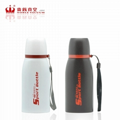 Double wall stainless steel FLAT sports bottle vacuum flask thermal mug