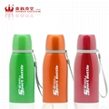 Double wall stainless steel FLAT sports bottle vacuum flask thermal mug 4