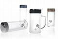 Double wall glass tumbler glass bottle