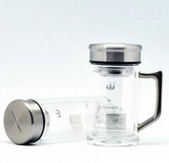 Double wall crystal glass tumbler healthy glass bottle elegant glass cup Baalbek