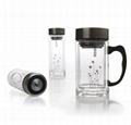 Double wall glass tumbler healthy glass bottle elegant glass cup YALE 1