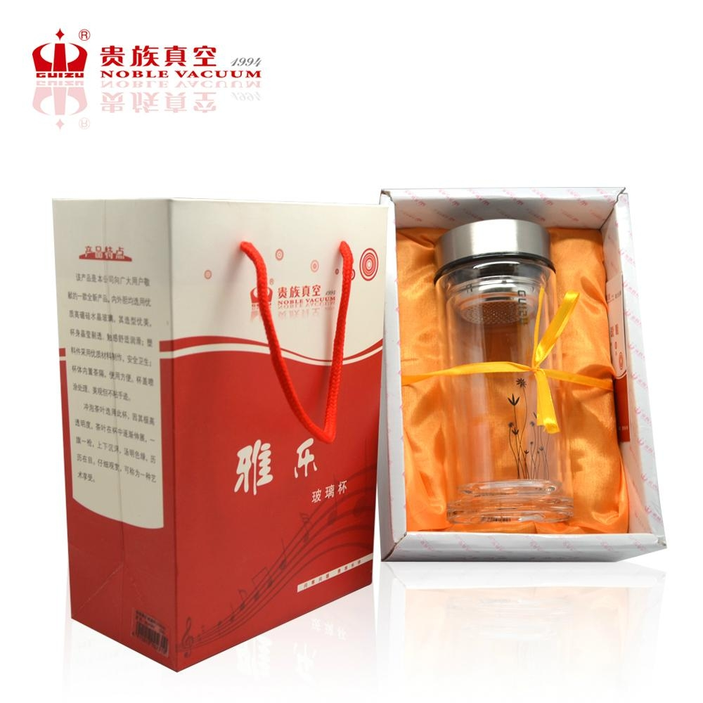 Double wall glass tumbler healthy glass bottle elegant glass cup YALE 5