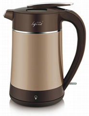 Double wall stainless steel vacuum electric kettle thermos