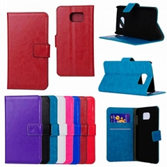 Wallet Case Stand PU Leather Case Flip Cover with ID Card Holder for galaxy s6