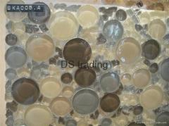 Irregular shape Crystal Art Mosaic tiles