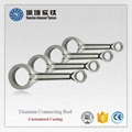 Titanium Alloy Casting and Forged Connecting Rod for Sale 4