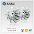 TiAl titanium casting parts impeller for turbocharger 2
