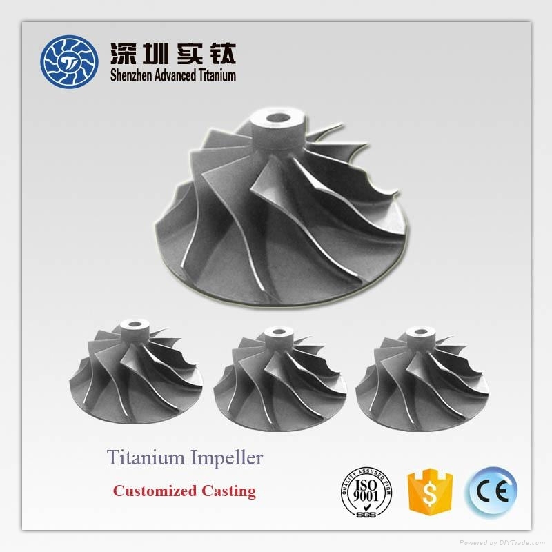 TiAl titanium casting parts impeller for turbocharger 4