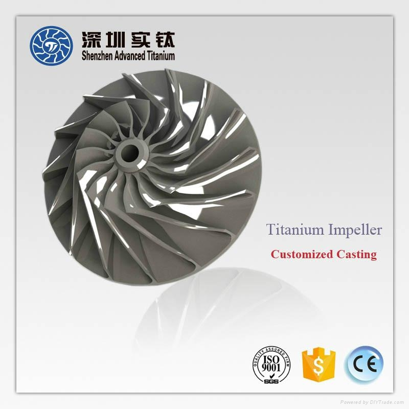 TiAl titanium casting parts impeller for turbocharger 5