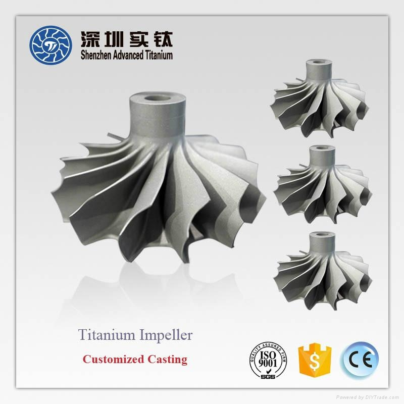 TiAl titanium casting parts impeller for turbocharger 1