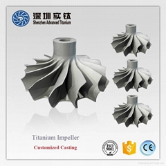TiAl titanium casting parts impeller for turbocharger