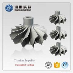 TiAl titanium casting parts impeller for turbocharger