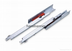 full extension concealed drawer slide with push open