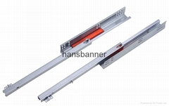 single extension undermount drawer slide with push open with pin