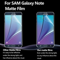 Ultra Thin High Clear Screen Protector Film Anti Fingerprint Anti Glare PET Scre