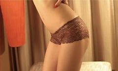 女士平角蕾丝性感内裤 镂空设计