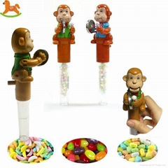 monkey tube candy toy made in china