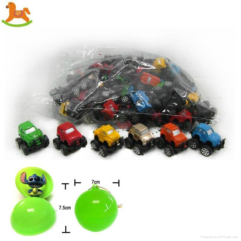 pull back small car capsule toy  1