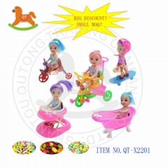 Funny doll toys with sweet candy
