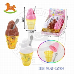 Funny ice cream toys with sweet candy