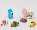 Cartoon plastic made capsule toy