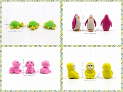Colorful promotion small eraser capsule toys for chocolate surprise egg
