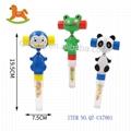 Wiggle & giggle animal toy with sweet