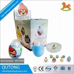 PP food material surprise egg candy spray one part with promotional toy hot sell