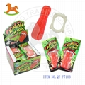Sweet soft tongue gummy candy with teeth