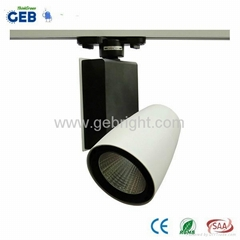 30W COB LED Track Light Spot, 85-265VAC for Clothing Store Lighting with CE RoHS