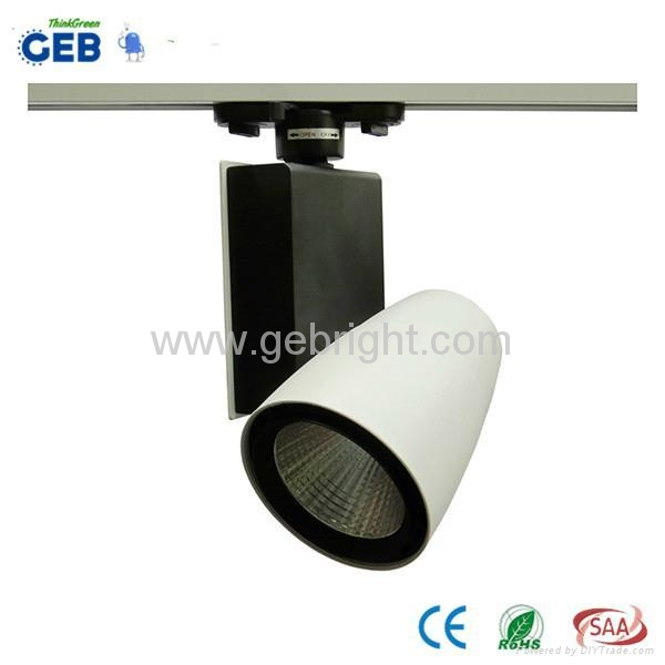 30W COB LED Track Light Spot, 85-265VAC for Clothing Store Lighting with CE RoHS 2