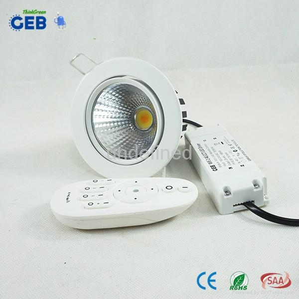 Dual White COB Downlight Dimmable Controlled by Android/iPhone APP 2