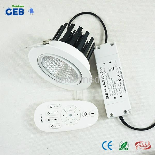 Dual White COB Downlight Dimmable Controlled by Android/iPhone APP 3