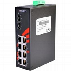 8-Port Industrial Unmanaged Ethernet Switch-LNX-0802C-SFP