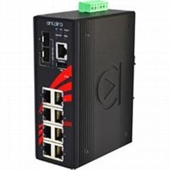 10-Port Industrial Gigabit Managed Ethernet Switch