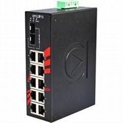 12-Port Industrial Gigabit Unmanaged Ethernet Switch