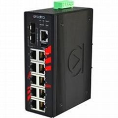 10-Port Industrial PoE+ Gigabit Managed Ethernet Switch-LMP-1002C-SFP