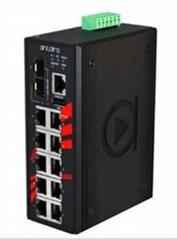 12-Port Industrial Gigabit PoE+ Managed Ethernet Switch