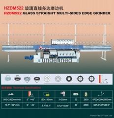 HZDM522 Glass Straight-Line Multi-sides Edging Machine