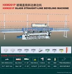 9 Spindle PLC Control Glass Straight-Line Beveling Machine