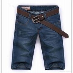 新款男装牛仔中裤