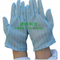 供应蓝色防静电条纹手套