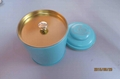 Wholesale Metal tea tin box with handle 1