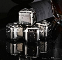 Stainless steel ice cube ice stone