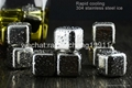 Stainless steel ice cube ice stone 3