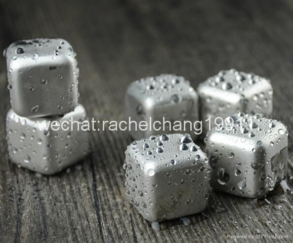 Stainless steel ice cube ice stone 4