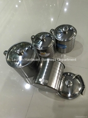 4pcs Stainless Steel Mug 10cm-13cm Cup Water Mug With Handle Cover