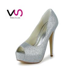 peep toe sparlke party shoe