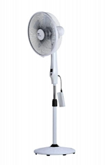 Rechargeable DC Motor Stand Fan Driven by Power Bank