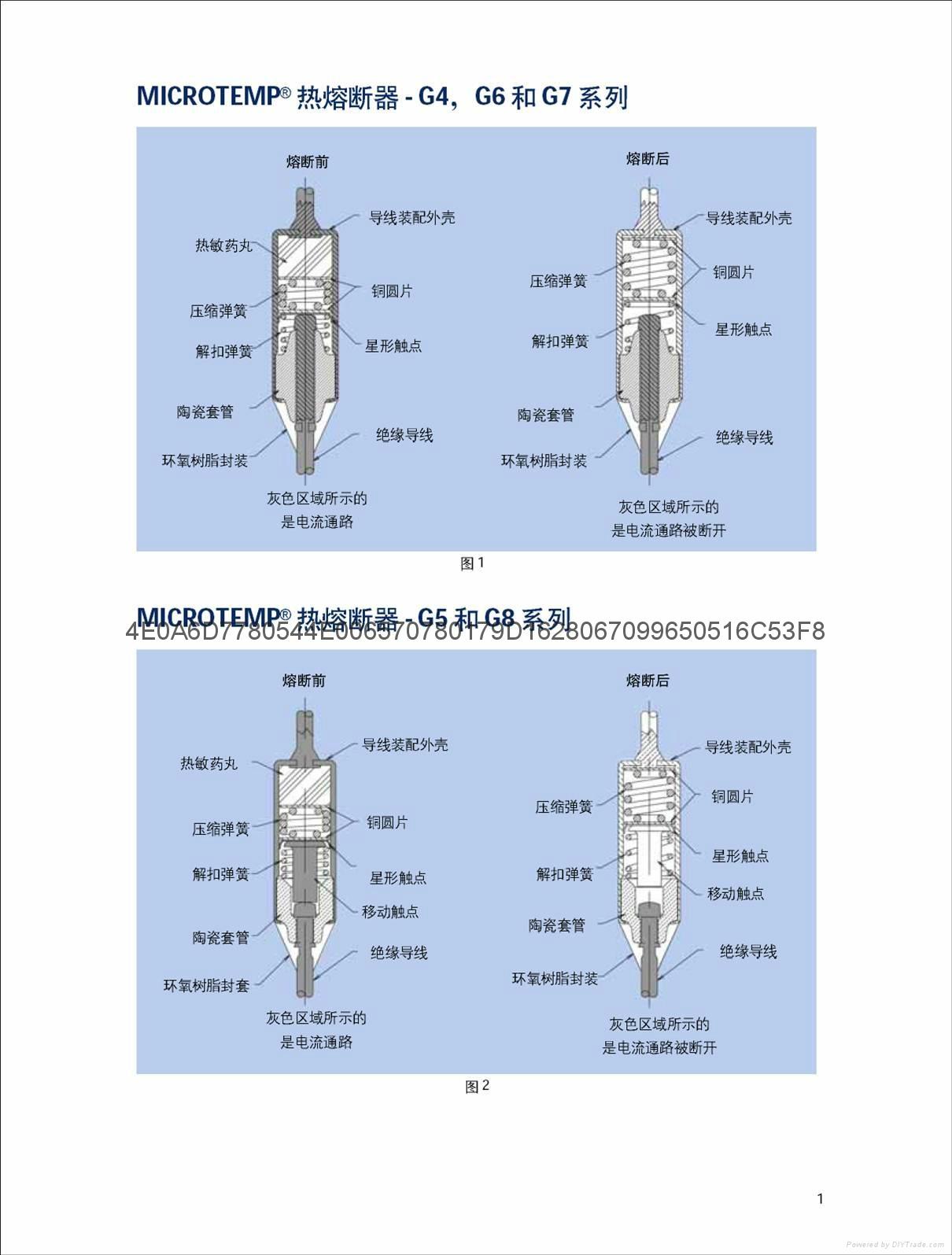 進口大電流艾默生溫度保險絲G8A01和G8A00系列熱熔斷器 3